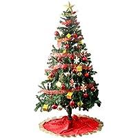 タンスのゲン クリスマスツリー セット 180cm オーナメント 11種 LED 8パターン イルミネーション付き レッド 16910004 11AM 【64525】