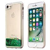 【EseekGO】iPhone 7高品質カバー キラキラ流れ星クリアTPUケース【全5色】シューティングスター保護アイフォン7Case【グリーン】