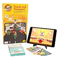Aurodo Travel and Transportation - Educational Stem Toys for Boys and Girls 70 Augmented Reality Vehicles with Over 200 Educational Games [並行輸入品]