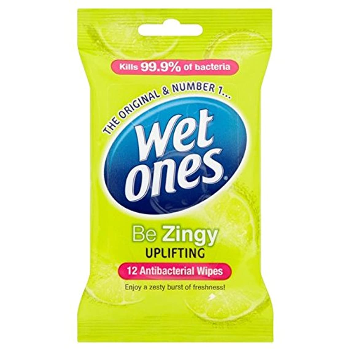 アンビエント表面的なスタイルWet Ones Cleansing Anti Bacterial Wipes 12 per pack (Pack of 6) - 抗バクテリアをクレンジング湿ったものはパックごとに12ワイプ x6 [並行輸入品]