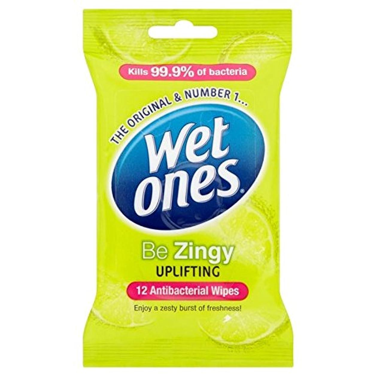 省プレミアショッキングWet Ones Cleansing Anti Bacterial Wipes 12 per pack (Pack of 6) - 抗バクテリアをクレンジング湿ったものはパックごとに12ワイプ x6 [並行輸入品]