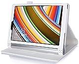 【全4色】IVSOオリジナルLenovo Yoga Tablet 2 10インチ (2014 Oct Release) (Lenovo Yoga Tablet 2 10インチ だけ 適用) 専用PUレザーケース 超薄型 最軽量 内包型 (ホワイト)
