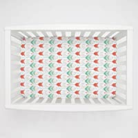 Carousel Designs Coral and Teal Arrows Mini Crib Sheet 1-Inch-4-Inch Depth by Carousel Designs