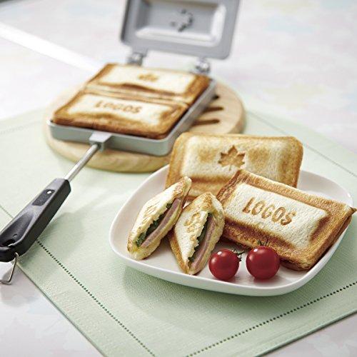ロゴス(LOGOS) ホットサンドパン ミミあり調理可 分割洗い可 ロゴ焼印 ホットサンドメーカー
