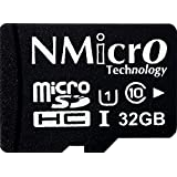 NMicro Technology 32GB micro SDHC Class 10 純正品 メモリカード 高速クラス microSDカード grade 1 micro SD UHS microSDHCカード SDXC 対応 (SDアダプタなし) 台湾製 海外向けパッケージ品 (32GB microSDHC Class 10 Value Version without Adapter)
