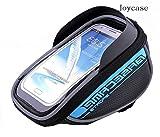 ラヤワ權・ユ・ゥ`・爭ミ・テ・ー 5.5・、・チ・ユ・愠ネ・ミ・テ・ー New Design Waterproof Toucscreen Dual Zipper 2.5L Capacity Mountain Cycling Bicycle Bike Road Front Frame Bag Tube Pannier Rack Trunk Saddle Bag Fit for iPhone 6 6s Plus /LG G4 G3 /Moto X (4-5.5-inch Phone) - Blue