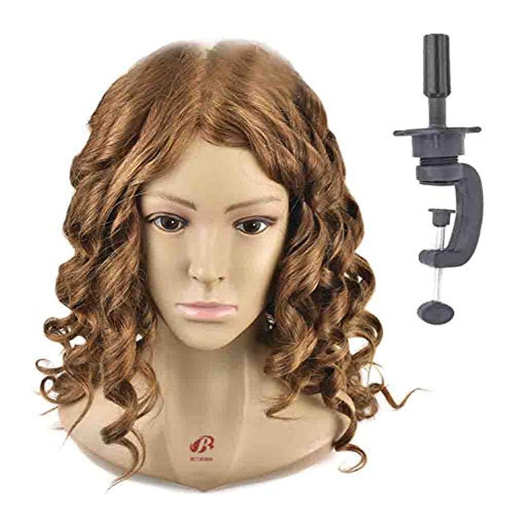 ずんぐりしたダブル口述するヘアマネキンヘッド練習ディスク髪編組ヘッドモデル理髪店学校教育かつらヘッドバンドブラケット