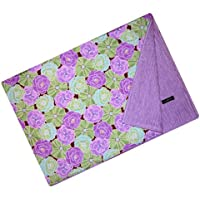 Cuddle Bee Chenille Blanket Purple Flower by Cuddle Bee