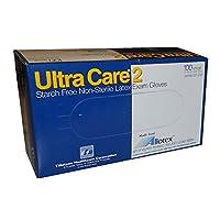 ultracare2Starchフリー、パウダーフリー、ラテックス検査用手袋、スモール、100のボックス