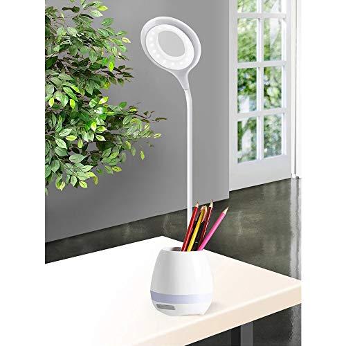 デスクライト LED 電気スタンド 卓上ライト 目に優しい ブックライト 筆立て付 3段階調光 360°回転可能 USB充電 省エネ テーブルランプ タッチセンサー 読書灯 勉強 仕事ライト
