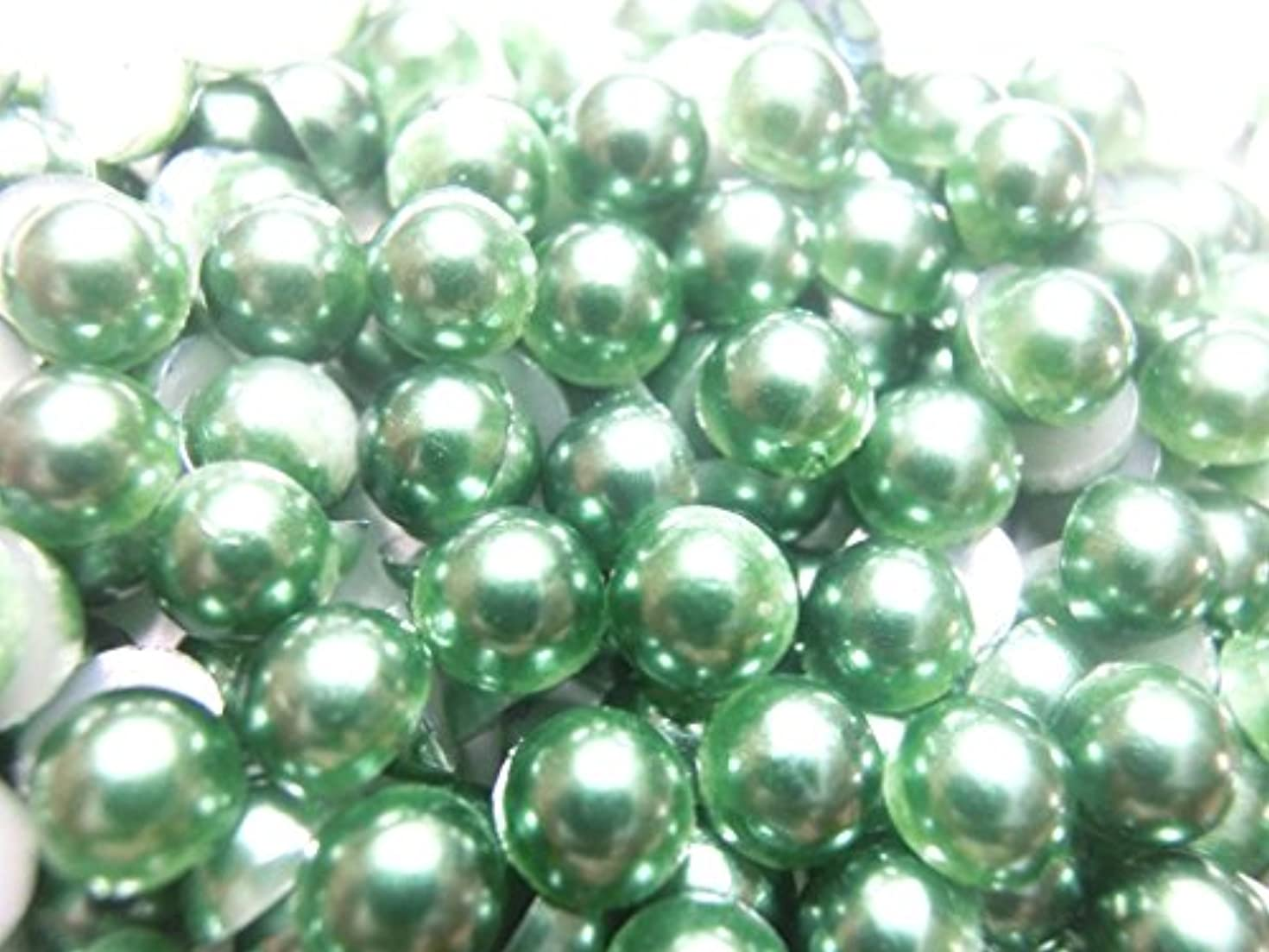 冗長祖母下に向けます【ラインストーン77】超高級 パールストーン 各サイズ選択可能 2mm~8mm 緑 (8mm (約20粒))