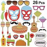 BESTOYARD 26点 フォトプロップス メキシコ ウエディング 披露宴 撮影 二次会 写真小道具 盛り上げグッズ 面白い