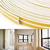 【エコ生活】 防音・防風・防虫・防水用 中空D型のすきまテープ ドア/窓用の気密パッキン 戸当たりテープ ホワイト 長さ25m・2巻 総50m