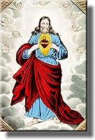 "The Sacretハートイエスの上の写真ストレッチキャンバス、壁アート飾り、ハングする準備。 14"" x 18"" E2889"