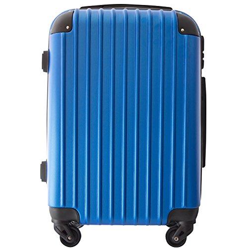 【レセナ】RESENA スーツケース 超軽量 キャリーケース ファスナー ABS 静音キャスター おしゃれ かわいい 旅行 出張 … (S サイズ_ダイヤルロック, ダークブルー)