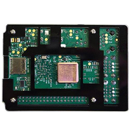 『waves Raspberry Pi 3 Model B 用 ケース ヒートシンク 3点付 Pi2 共用 国内発送 黒』の2枚目の画像