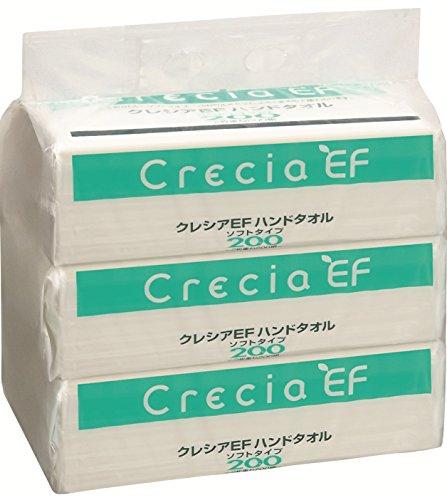 クレシア EFハンドタオル ソフトタイプ 2枚重ね 200組(400枚)×3...