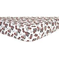 トレンドラボ印刷フランネルベビーベッドシート Standard Crib/Toddler ブラック 30610