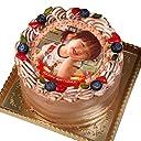 写真ケーキ 全面プリント彩タイプ チョコレートの生クリーム (4号(12cm)2~3人前)