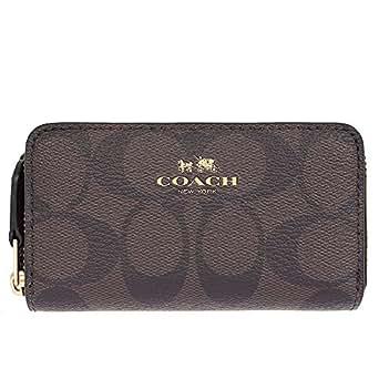 [コーチ] COACH 財布(コインケース) F63975 ブラウン×ブラック ラグジュアリー シグネチャー PVC スモール ダブル ジップ コインパース メンズ レディース [アウトレット品] [ブランド] [並行輸入品]