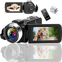 ビデオカメラ 2.7K ユーチューブカメラ ハンディーカメラ カムコーダー ブログカメラ HD 1080P&60FPS…