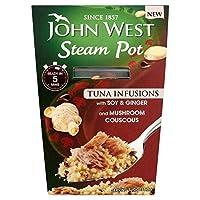 (John West (ジョン・ウェスト)) スチーム鍋醤油&生姜150グラム (x2) - John West Steam Pots Soy & Ginger 150g (Pack of 2) [並行輸入品]