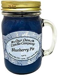 アロマキャンドル メイソンジャー ブルーベリーパイ ビッグ Our Own Candle Company Blueberry Pie big 日本未発売サイズ