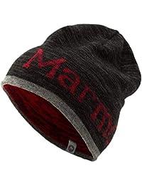 マーモット(Marmot) Reversible Logo Knit Cap TOAMJC40 BKRD ブラック/レッド ONE