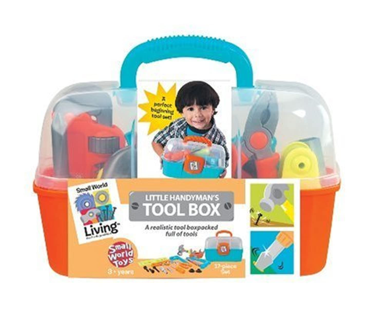 Small World Toys Living - Little Handyman's Tool Box 17 Pc. Playset [並行輸入品]