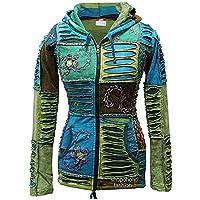 Shopoholic Fashion Women Blue Embroidery Razor Cut Hoodie