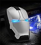 iron man アイアンマン ワイヤレス Bluetooth マウス USB 光学式 (SILVER) [並行輸入品]