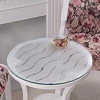 ソフトガラスPVCラウンドテーブルクロス、防水テーブルマット、ホームリビングルームコーヒーテーブルクロスクリスタルプレート(1.5ミリメートル) ( サイズ さいず : 90センチメートル )