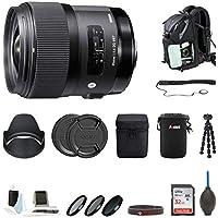 Sigma 35mm f / 1.4DG HSMレンズfor Nikon DSLR Cameras + Vivitar 67Mm 3ピースフィルターキットUV / CPL/WM + Shortズームソフトシェルカメラケース+ 7-inchミニ柔軟なスパイダー三脚+デラックスアクセサリーキット