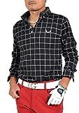 【コモンゴルフ】 COMON GOLF +3℃の蓄熱 スタイリッシュ 長袖 ポロシャツ CG-LP551 L ブラック