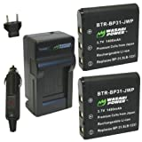 Wasabi Power Battery and Charger Kit for Sigma BP-31, DP1, DP1s, DP1x, DP2, DP2s, DP2x by Wasabi Power [並行輸入品]