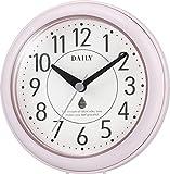 リズム時計 DAILY ( デイリー )  置き ・ 掛け時計 防滴 防塵 アクアパークDN ピンク 4KG711DN13