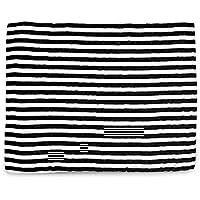 Organic Cotton Muslin Swaddle Blanket (Stripes) by Modern Burlap