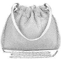 UBORSE Women's Clutch Bag Vintage Rhinestone Wedding Purse Handbag Evening Party Purse