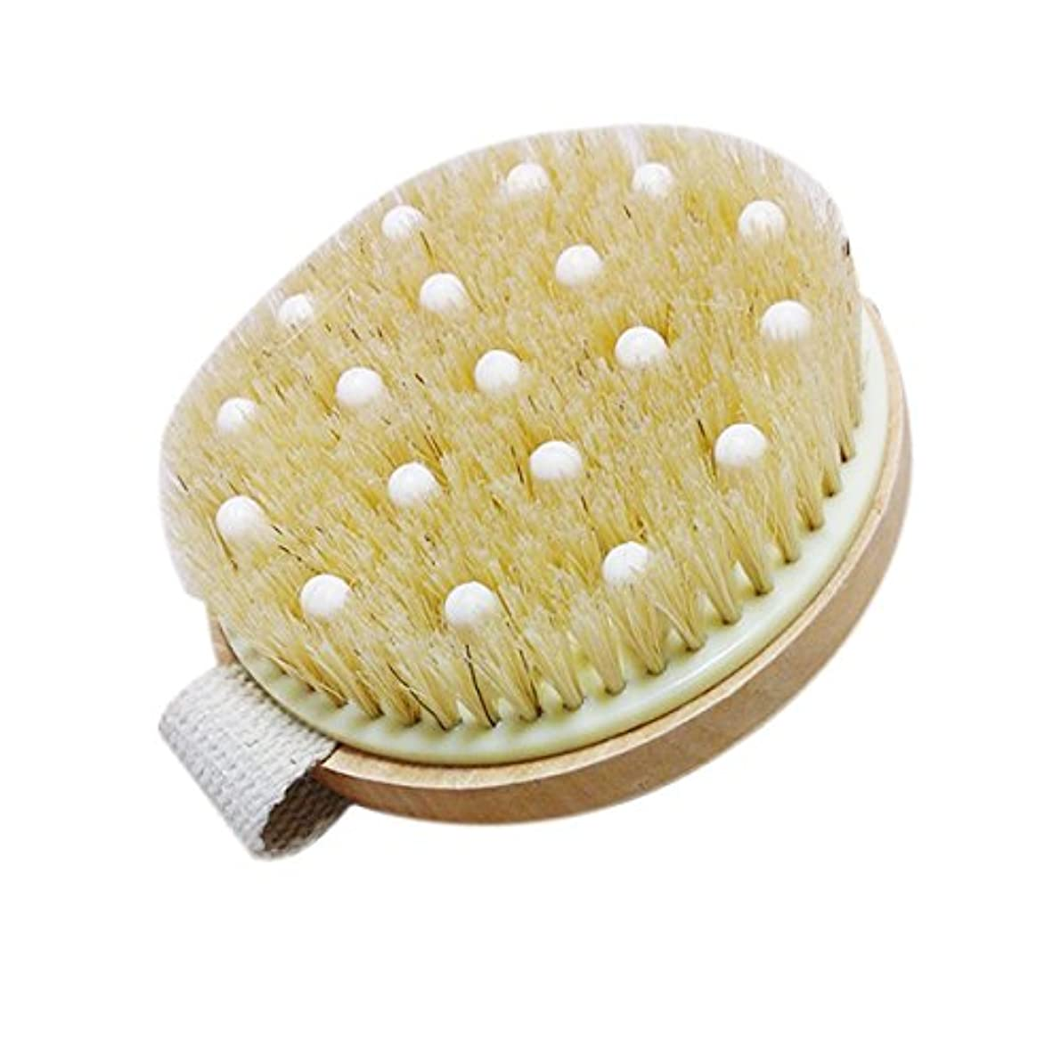 感謝祭絶滅装備するTOPBATHY バンド付きバスシャワー剛毛ブラシマッサージボディブラシ