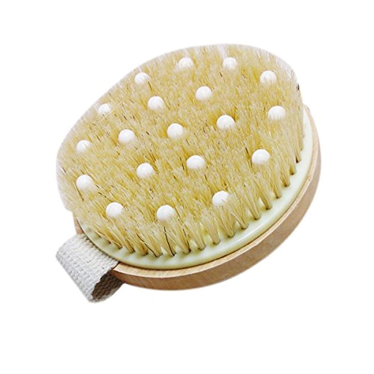 ミニチュアセンブランス自分を引き上げるTOPBATHY バンド付きバスシャワー剛毛ブラシマッサージボディブラシ