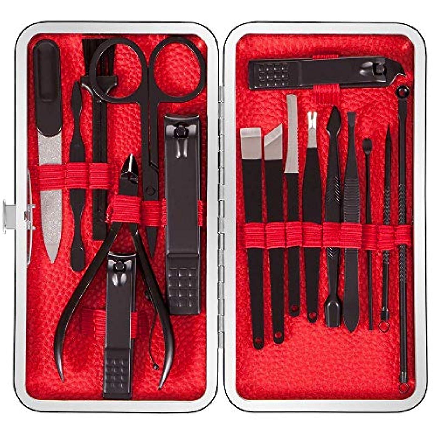ボックスしなやか国内の爪切りセット 多機能ステンレス製ネイルケアセット 手足爪磨き