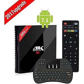 [3G + 16G Android 7.1] LINSTAR H96 Pro + 4K Android TV BOX XBMCフル装備Amlogic S912 Octaコア H.265 4K UHD 3DデュアルWiFi 2.4G / 5.8G Bluetooth 4.0 1000Mイーサネットストリーミングメディアプレーヤー+キーボード (H96 Pro +(3+16)+Keyboard)