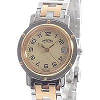 [エルメス]HERMES 腕時計 クリッパー CL4.220 中古[1307290] イエロー 付属:メーカー付属品なし *当店オリジナルBOX付