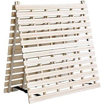 タンスのゲン すのこマット シングル 天然桐 折りたたみ ベッド 二つ折りタイプ リブ加工 風-kaze- AM 000078 【51280】