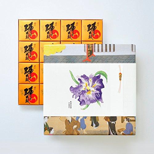 お菓子の香梅 誉の陣太鼓16個入 肥後六花のし紙 【肥後花菖蒲】 スイーツ 1250g