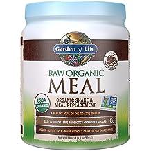 Garden of Life Meal Replacement - Organic Raw Plant Based Protein Powder, Chocolate, Vegan, Gluten-Free, 17.9oz (509 g) Powder