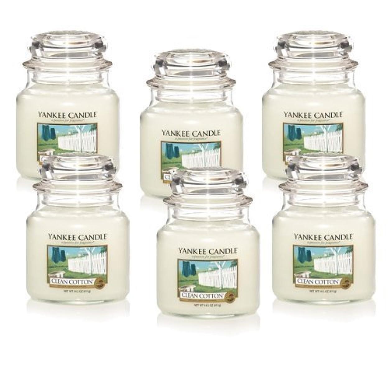 芸術的レギュラー必要ないYankee Candle Company Clean Cotton 14.5-Ounce Jar Candle, Medium, Set of 6 by Amazon source [並行輸入品]
