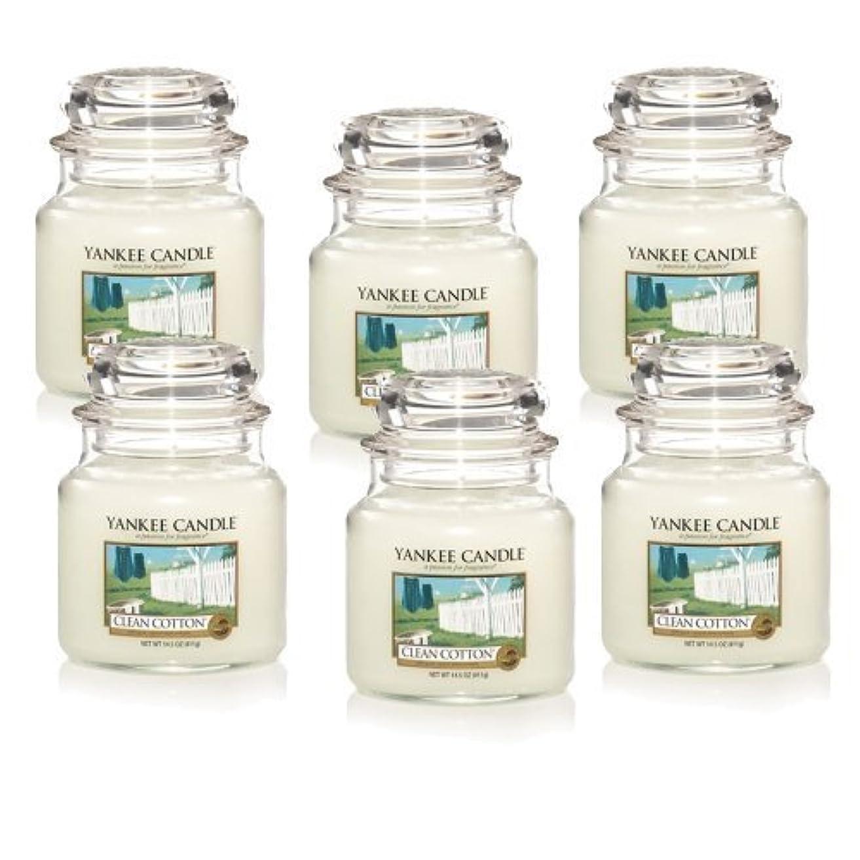 乱闘出力建設Yankee Candle Company Clean Cotton 14.5-Ounce Jar Candle, Medium, Set of 6 by Amazon source [並行輸入品]