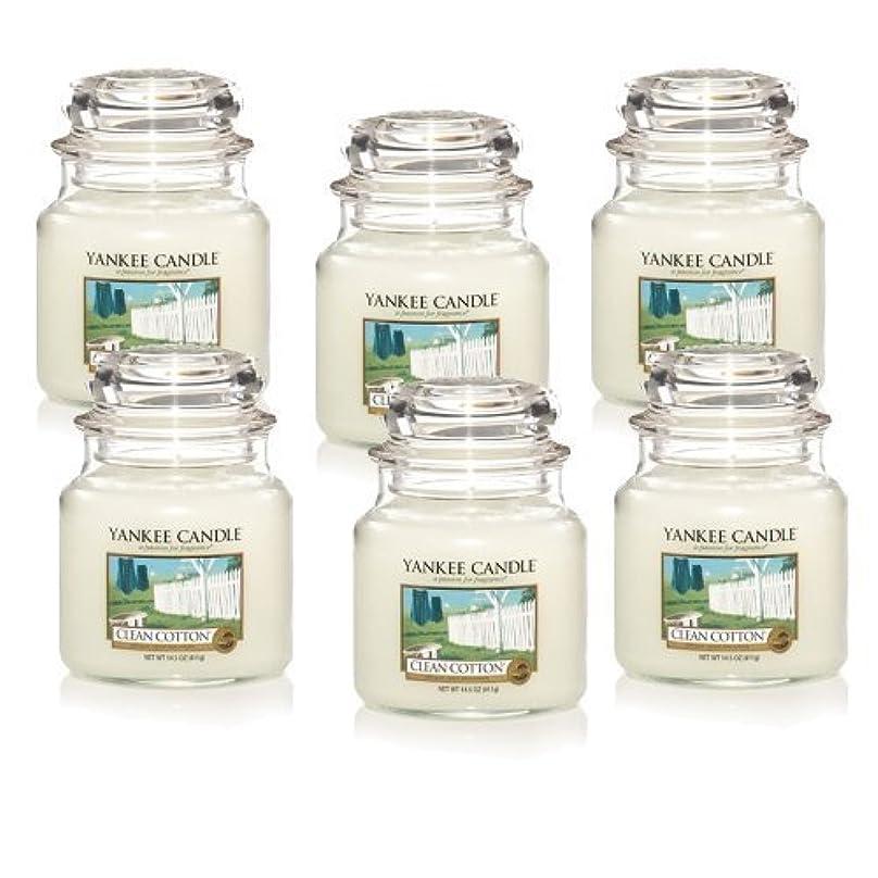 めんどりサッカー壊滅的なYankee Candle Company Clean Cotton 14.5-Ounce Jar Candle, Medium, Set of 6 by Amazon source [並行輸入品]