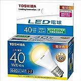 東芝 LED電球ミニクリ40W下方向L色 【品番】(T)LDA4L-H-E17/S/40W
